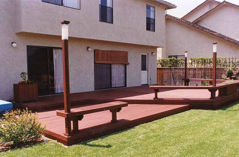 Backyard deck mountain view 94039 deck designs for Decking for back garden