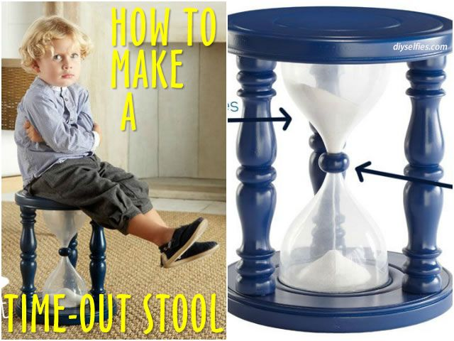 How To Make A Time-Out Stool In The Shape Of An Hourglass - OMG