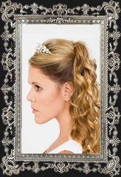 Twisted Panel Half Up Hairstyle With Tiara Comb