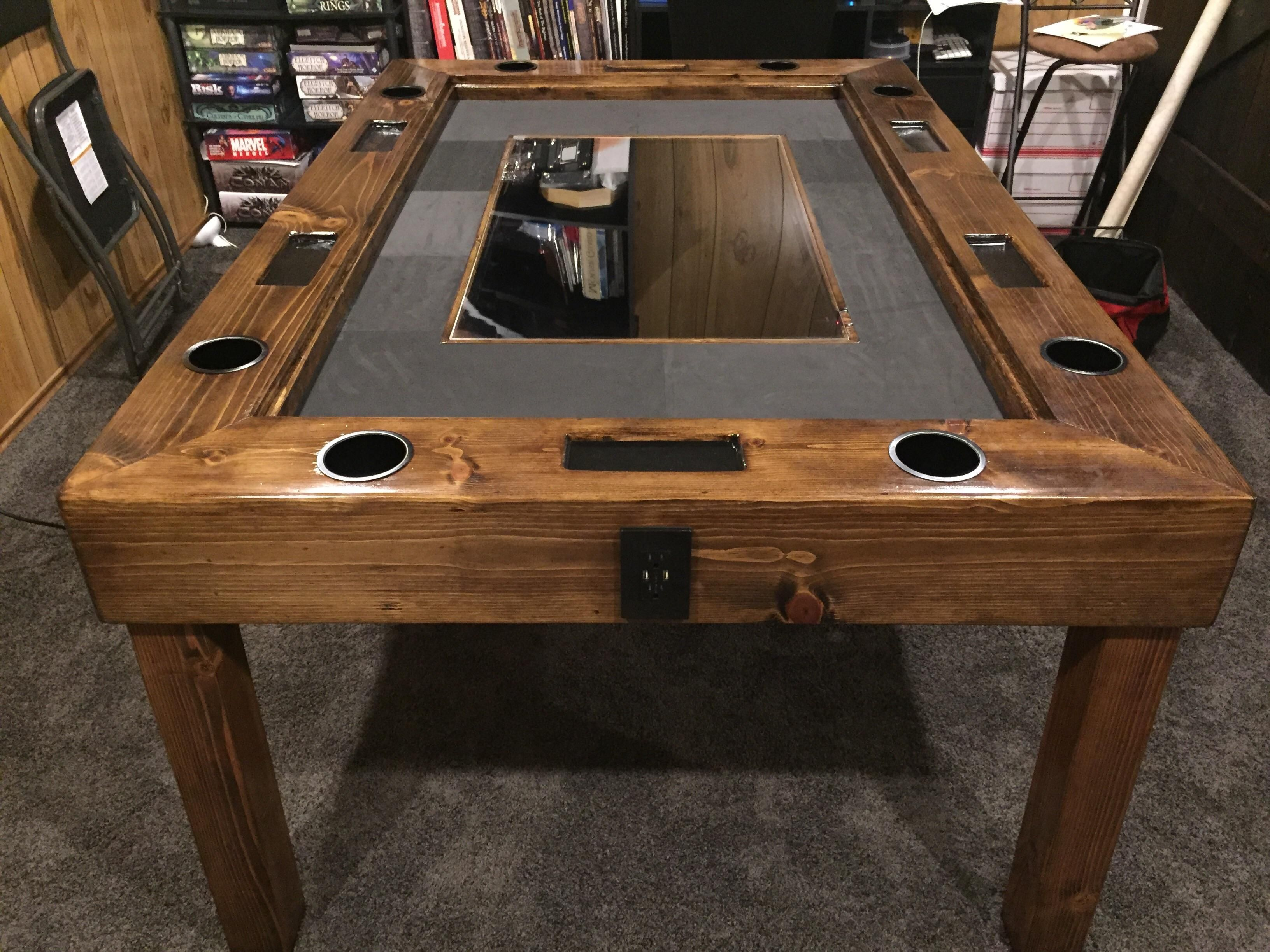 Gaming table with monitor for digital maps http//ift.tt