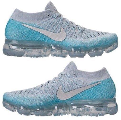4da812ea33e8 NIKE AIR VAPORMAX FLYKNIT WOMEN RUNNING PURE PLATINUM - GLACIER BLUE  AUTHENTIC