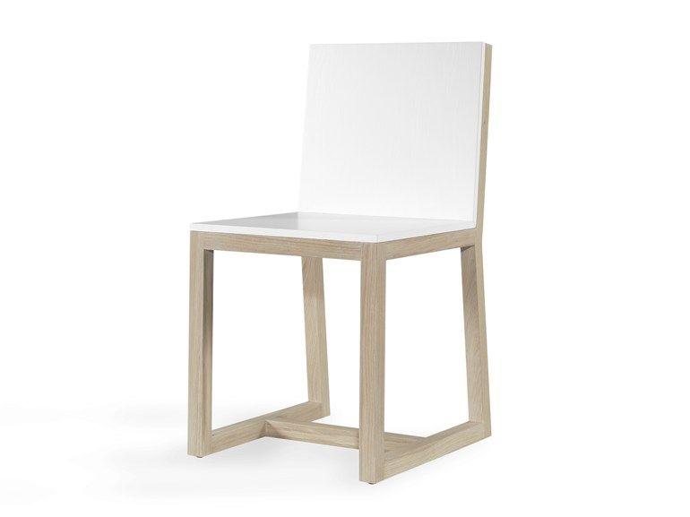 Cadeira trenó de madeira maciça GOLOUR - WEWOOD