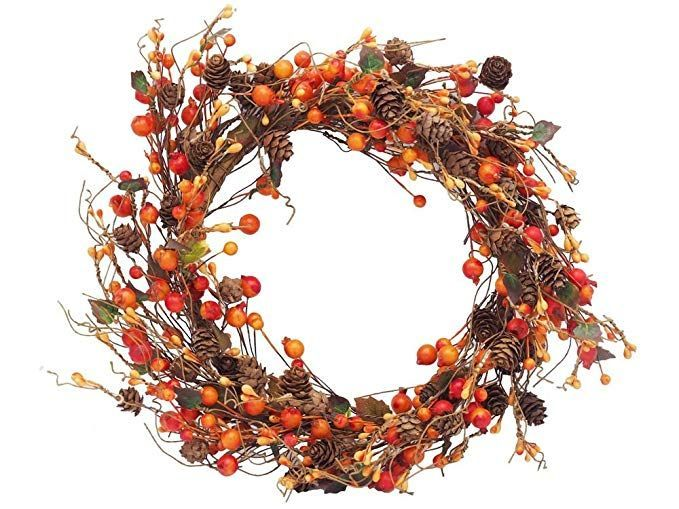 Unbekannt Beerenkranz Türschmuck Kranz Ø 28cm Türdeko Deko Weihnachten Fensterdeko Herbst Orange - Herbstdeko Eingangsbereich tisch basteln fenster... - #beerenkranz #fensterdeko #kranz #turdeko #turschmuck #unbekannt #weihnachten #fensterdekoherbst