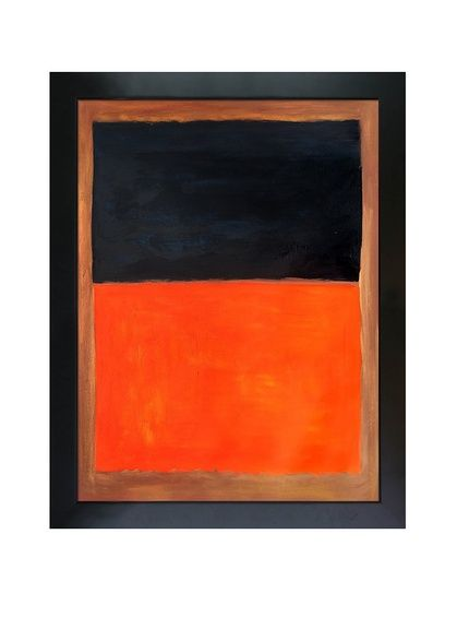 "Mark Rothko ""Green And Tangerine On Red 1956"" Framed Oil Reproduction, http://www.myhabit.com/redirect/ref=qd_sw_dp_pi_li?url=http%3A%2F%2Fwww.myhabit.com%2Fdp%2FB00W47UAHK%3F"