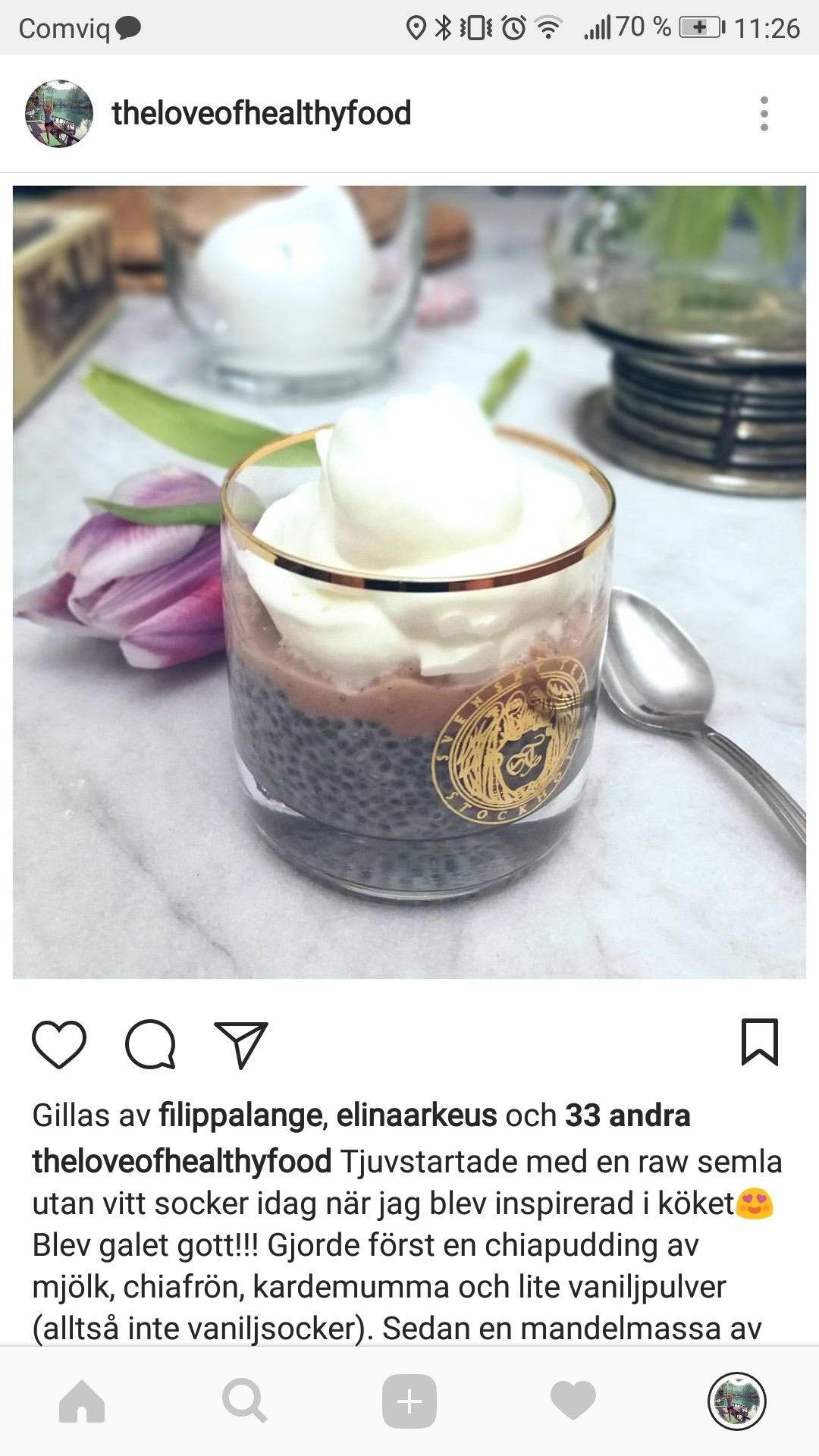 chiapudding med mjölk