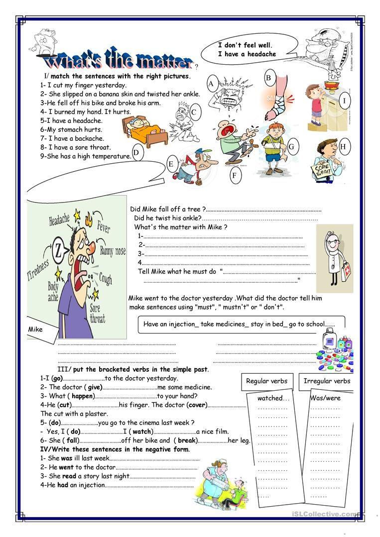 What S The Matter Worksheet Free Esl Printable Worksheets Made By Teachers Reading Comprehension Kindergarten Teaching English Grammar English Exercises [ 1079 x 763 Pixel ]