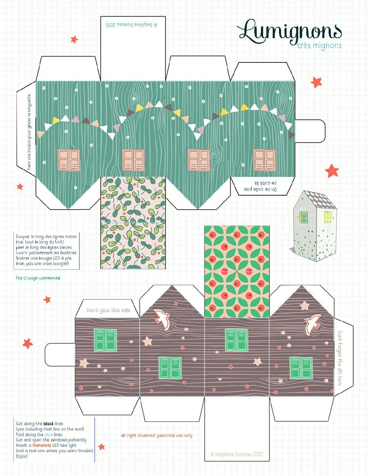 Free Printable House Boxes Use These For Creating Little