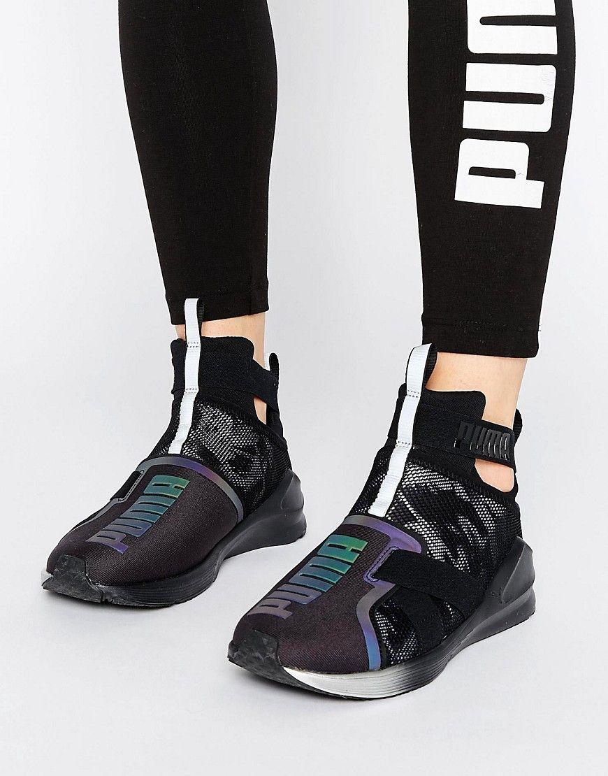 Buy it now. Puma Fierce Strap Swan Trainers In Black Black