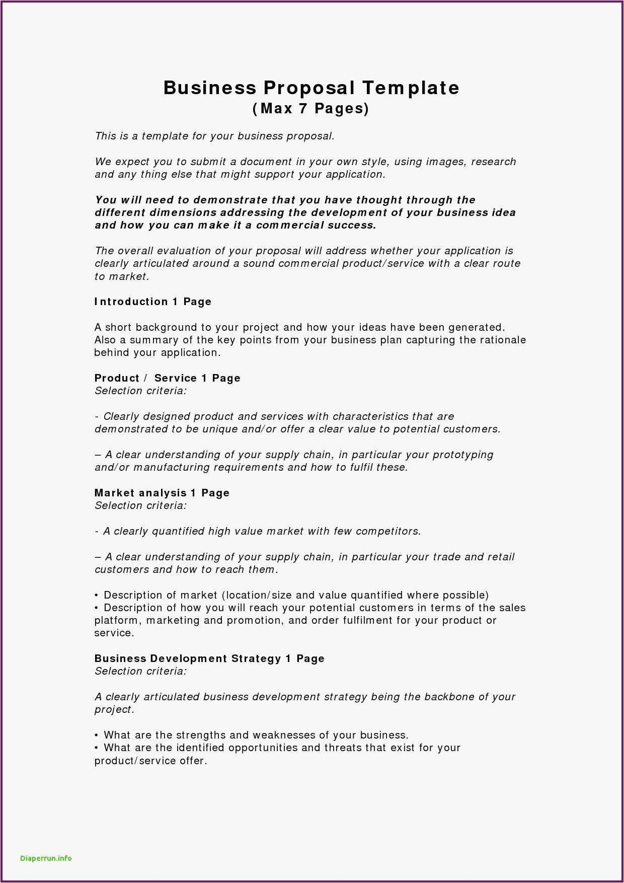 A Business Plan Template Writing a business proposal