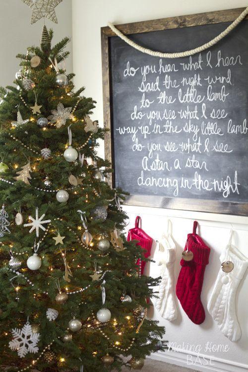 My Holiday Home Decor A Holiday Home Tour Chalkboards, Christmas - christmas home decor