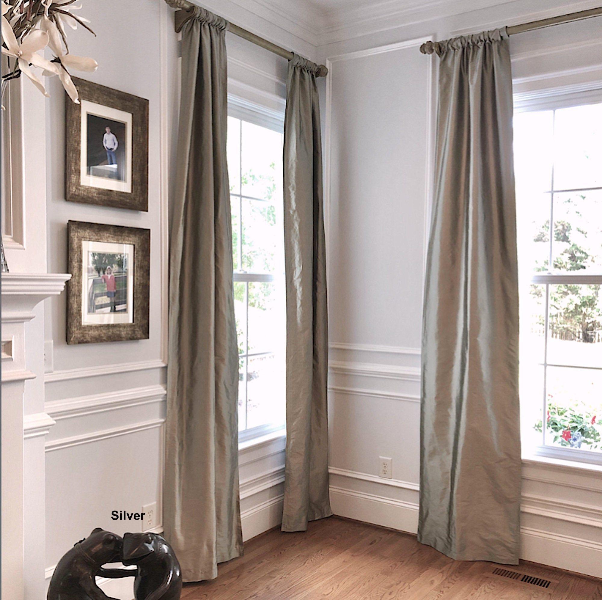 Silk Window Treatments Silk Curtain Panels Silk Drapes Etsy