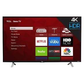Tcl 43 Roku 4k Uhd Hdr Smart Tv 43s425 Smart Tv Led Tv Roku