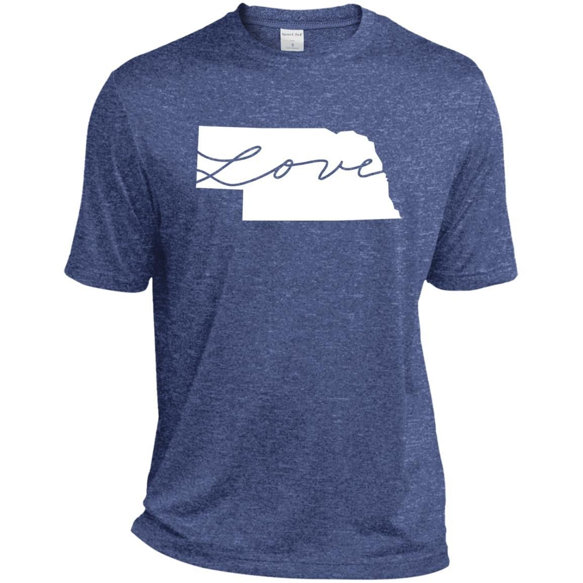 The State Love Collection - Nebraska T-shirt-01 ST360 Sport-Tek Heather Dri-Fit Moisture-Wicking T-Shirt