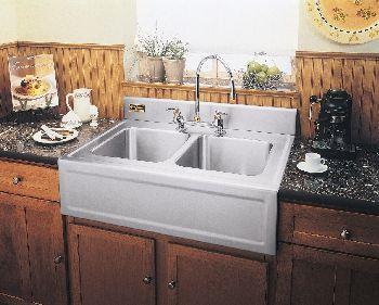 Elkay 3626egdf Elite Gourmet Double Bowl Kitchen Sink W Apron