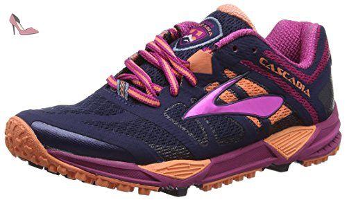 Brooks Cascadia 11-120204 1B 451, Chaussures de Trail Femme, Bleu (Peacoat/Batonrouge/Fusioncoral 451), 37 EU