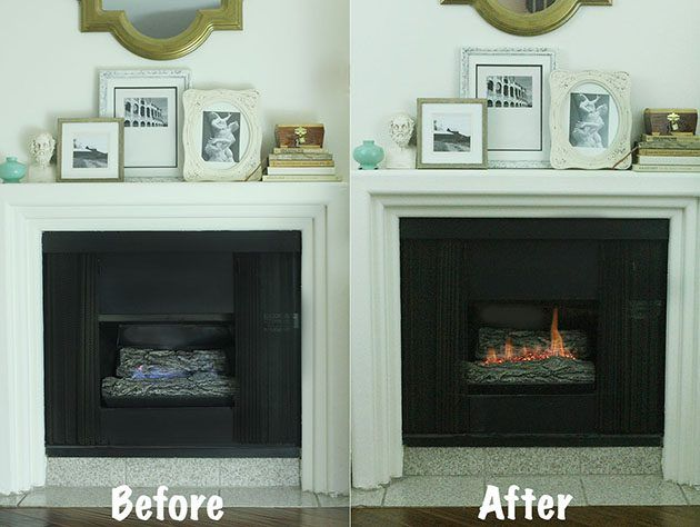 How To Make A Gas Fireplace More Like A Wood Burning One On A Cold Windy Night There S Only One Thing Better Than With Images Gas Fireplace Fireplace Gas Fireplace Logs