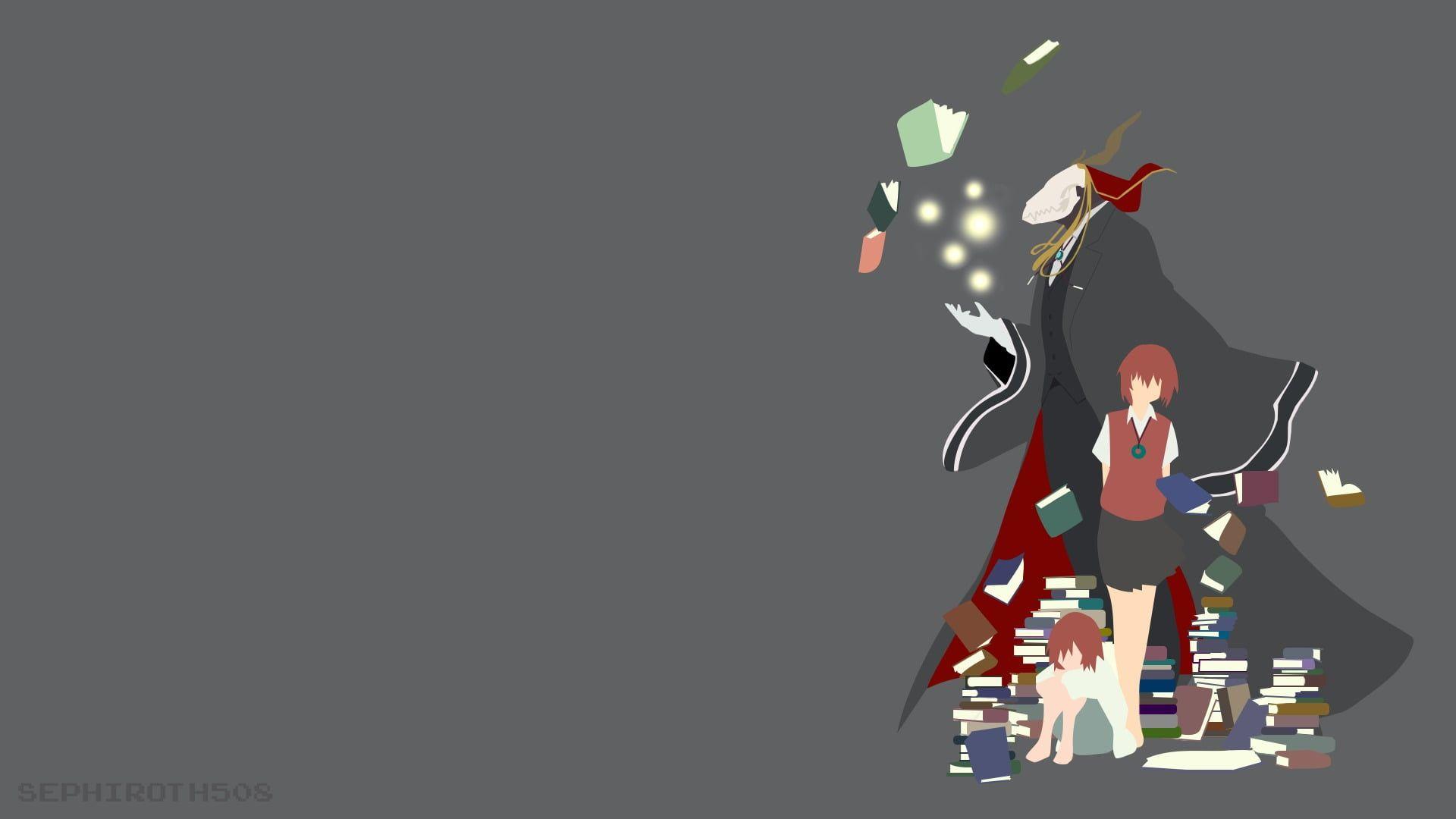 Woman In Red And Black Minidress Illustration Mahoutsukai No Yome