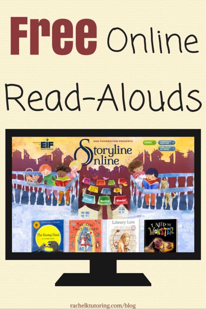 Free Online Read-Alouds | 3rd grade Reading | Kindergarten reading ...