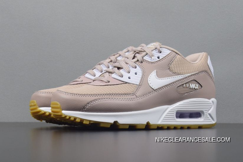 467219bdc3f Nike Air Max 90 Essential Diffused Taupe/White-Gum 325213-210 Roze Retro  Womens Air Cushion Running Shoes Best