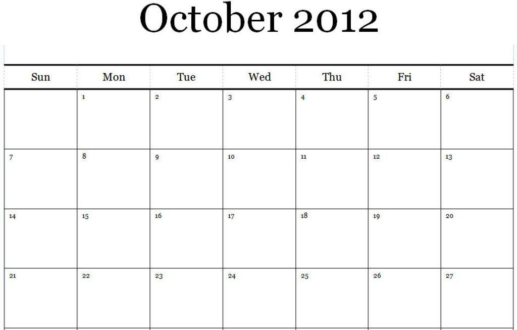 October  Calendar Printable Pdf  Printable Monthly Calendars