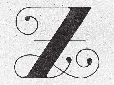 Z Typography Alphabet Graphic Design Typography Lettering Design