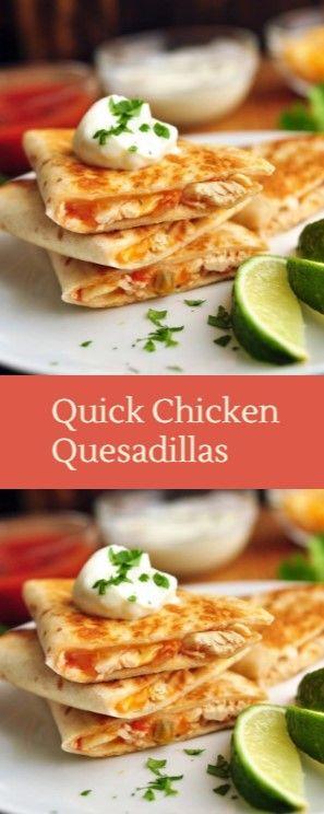 Quick Chicken Quesadillas images