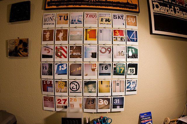 polaroid calendar Instagram Projects Pinterest Polaroid