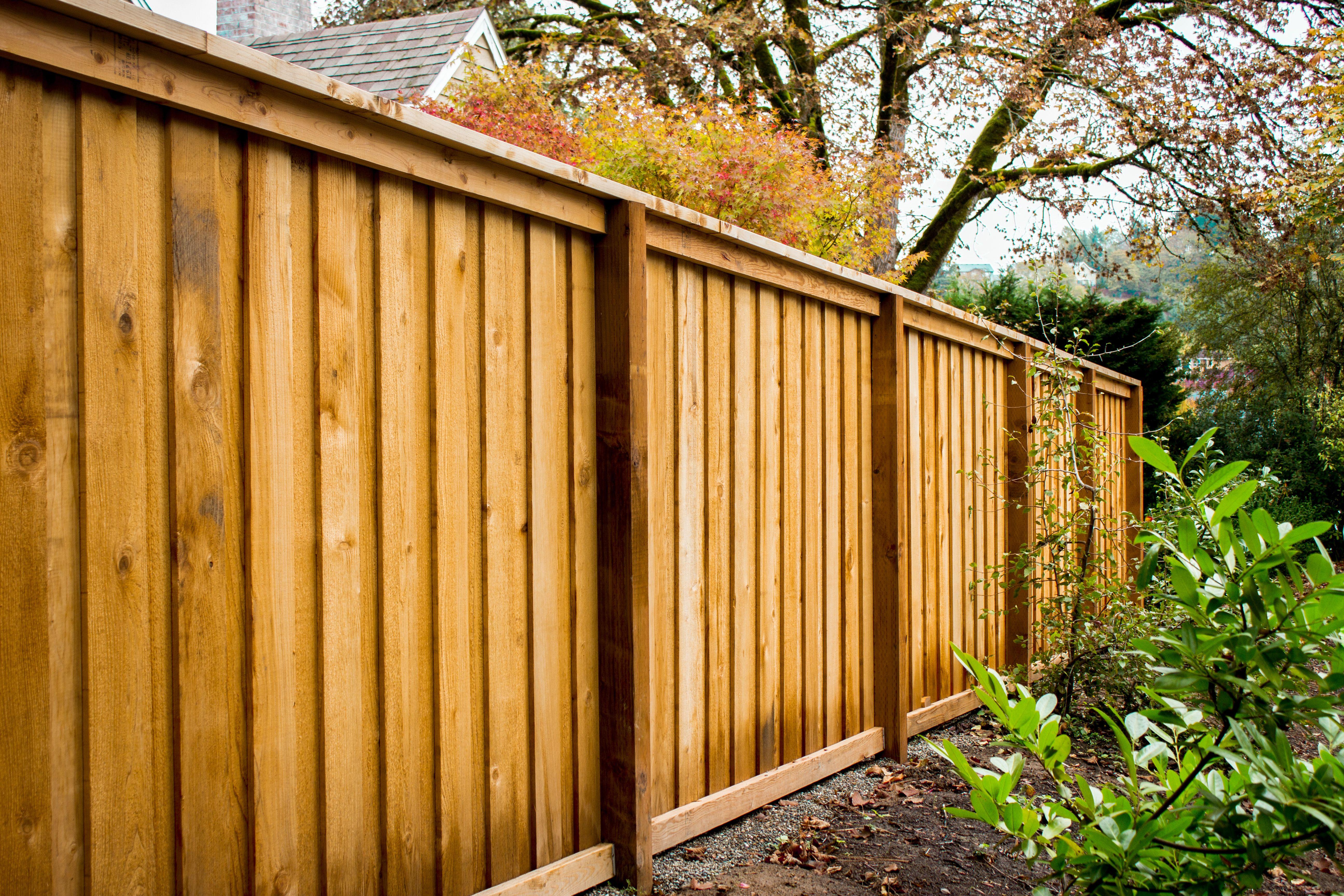 Picture Frame Style Cedar Fence Fence Design Backyard Fences