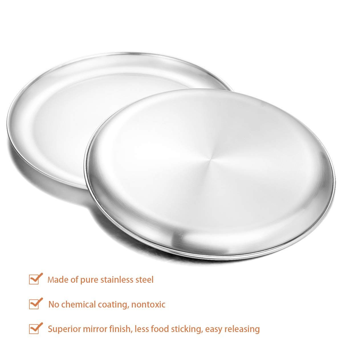 Stainless Steel Pizza 13 39 Inch In 2020 Pizza Pans Pizza Pans
