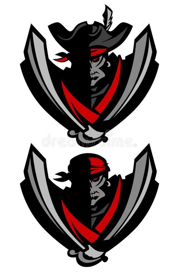 Raider Pirate Mascot Logo Vector Image Of Raider Pirate Mascot Logo Royalty Free Illustration Mascot Illustration Pirates