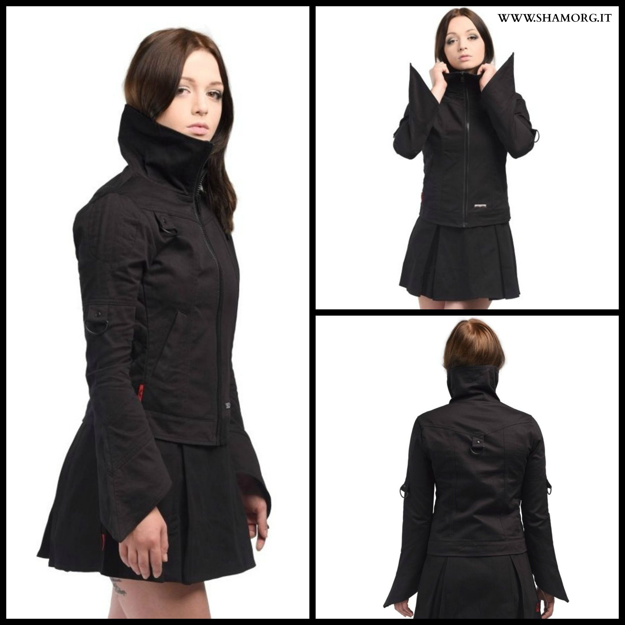 Jacket with seams and bell-shaped sleeves Simply gothalicious! ✝~❥ #shamorg