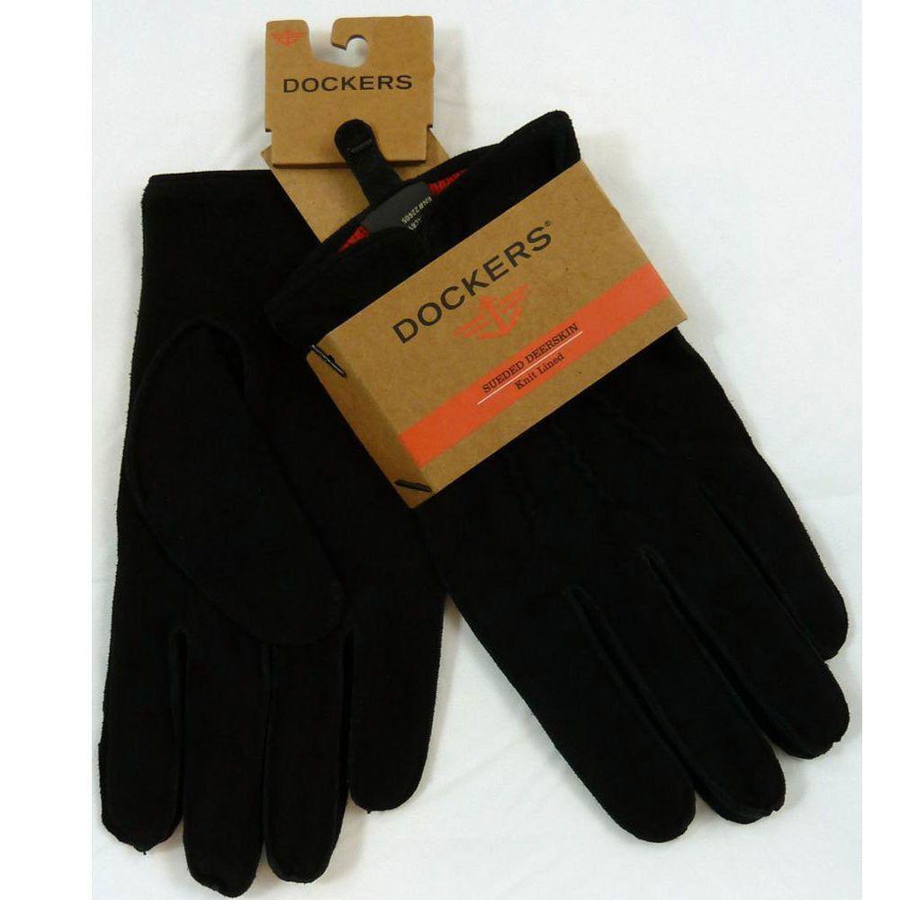 Mens Winter Dockers Sueded Deerskin Gloves Knit Lined X-Large,Black #DOCKERS #DrivingGloves
