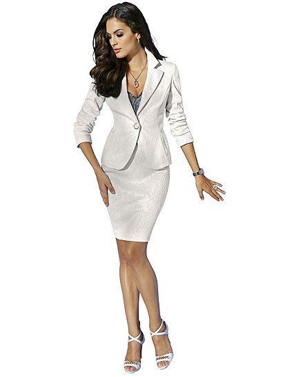 Meine neue Kostüme... Jerseyblazer mit Jerseyrock ALBA MODA RED TREND 641a62d283
