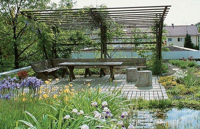 Bildergebnis für grüner sichtschutz pergola Garten Pinterest
