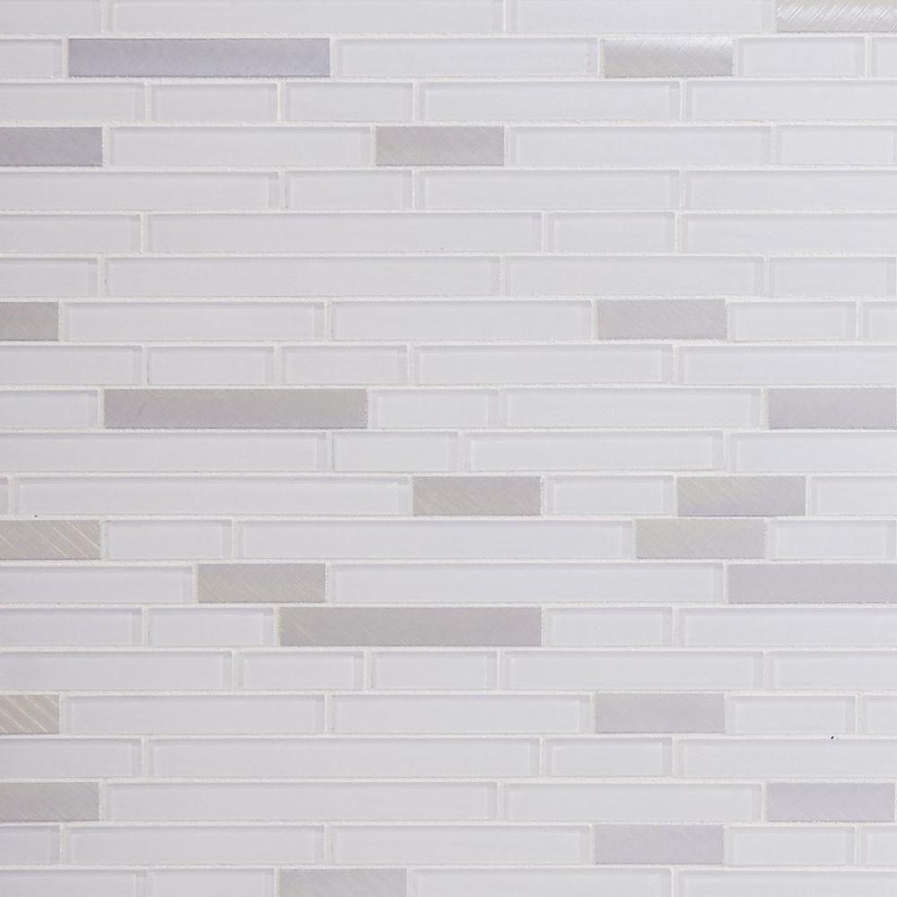 - Sequoia Polished Linear Mosaic Decorative Backsplash, Glass Tile