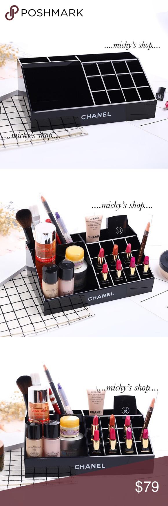 Chanel Brush lipstick makeup vanity box Organizer CHANEL