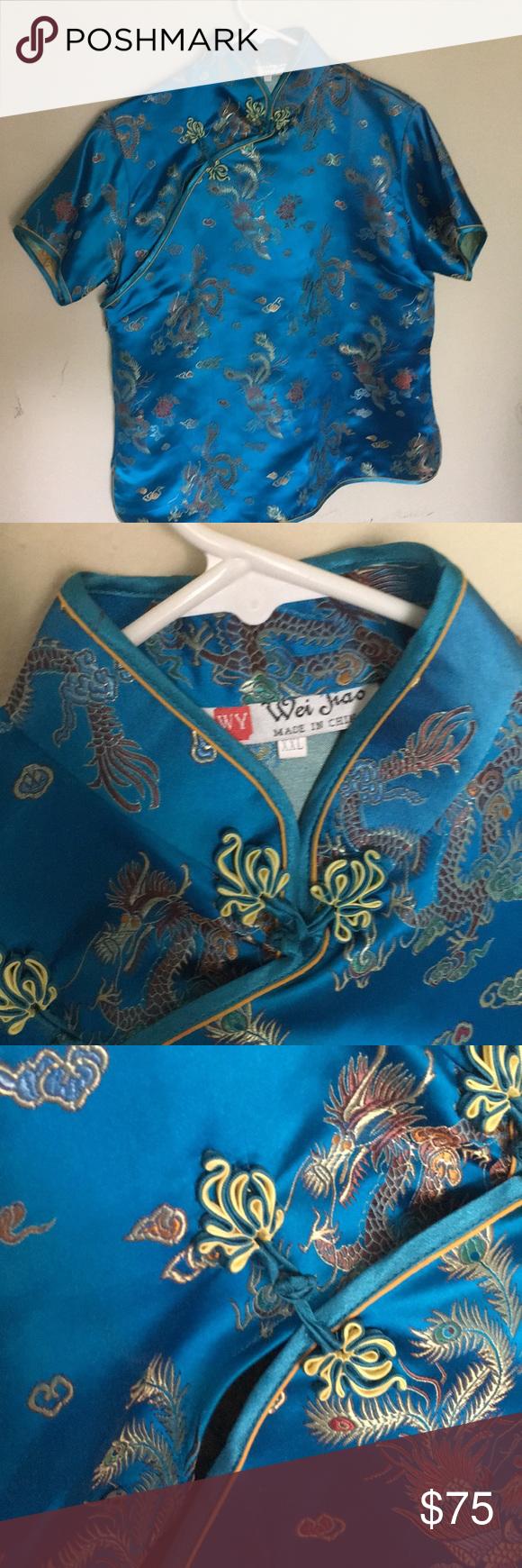 Blue kimono blouse Blusita kimono ! Azul muy hermosa