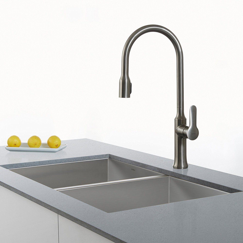 kraus kpf 1640ss modern nola single lever flex commercial style