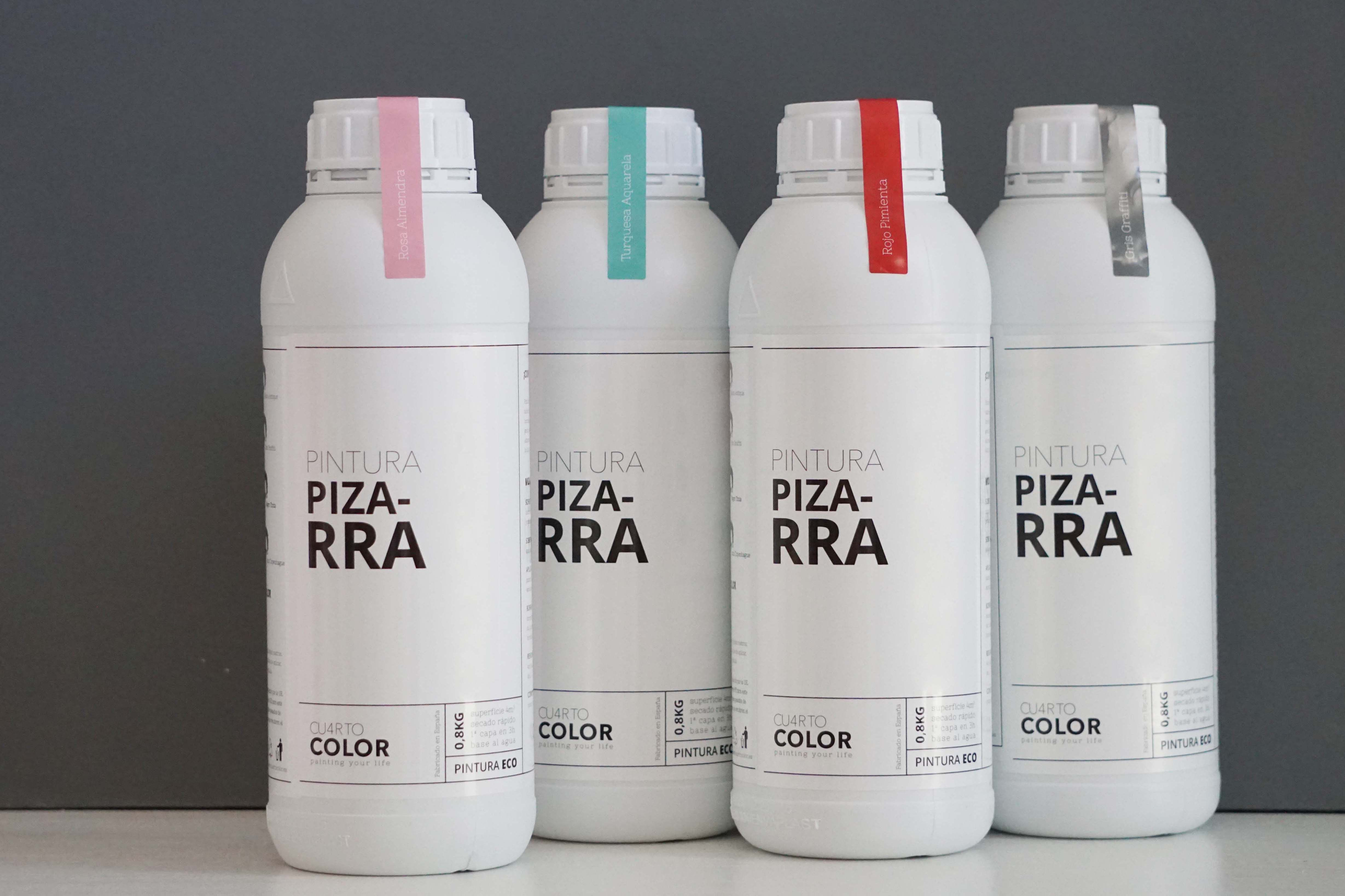 nuevo packaging Pintura de pizarra Cuarto Color #pintura #paredes ...