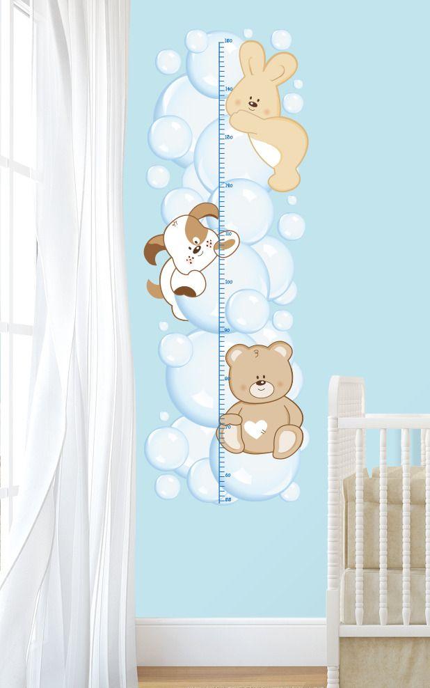 Metro crescita bolle di sapone adesivi murali bambini for Decorazioni stanza neonato