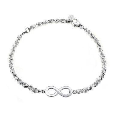 Infinty Charm Bracelet, in Sterling Silver