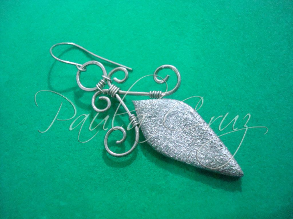 Brincos em Polymer Clay and Silver Wire Wrapped | Polymer clay ...