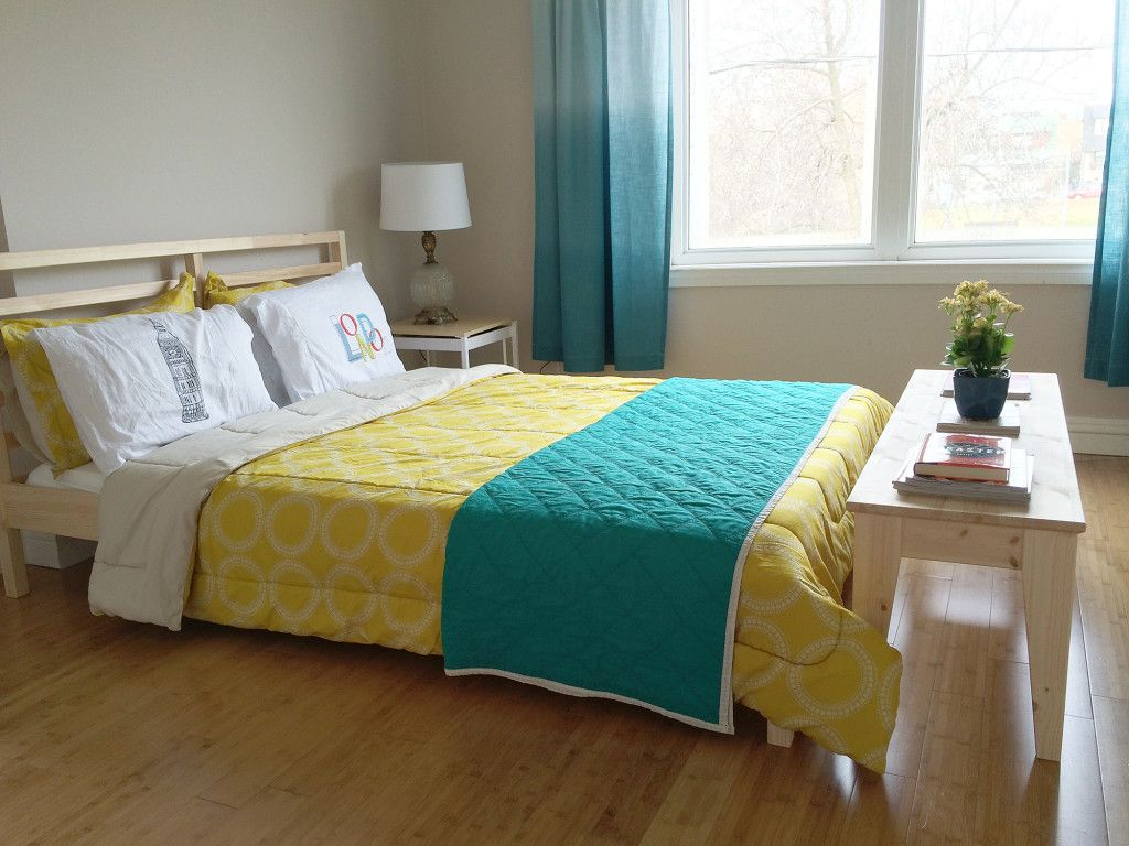 Ikea NORNAS Bench and TARVA Bed Frame Hack | cool ideas | Pinterest ...