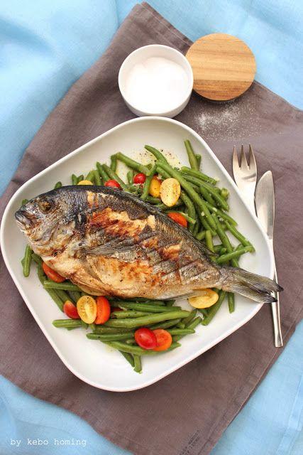 Leichte Küche Sommer Rezepte | Goldbrasse Gegrillt An Bohnen Und Tomaten Fisch Rezept Sommer