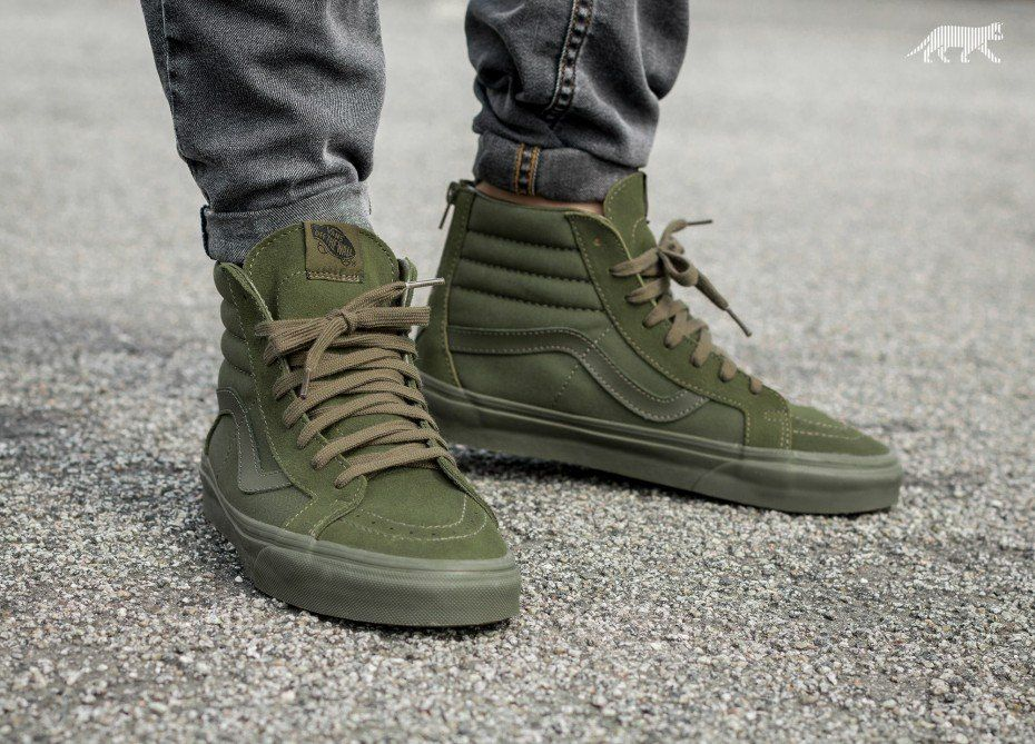 Vans Sk8-Hi Reissue Zip *Mono* (Ivy Green) | Sports Footwear in 2019 ...