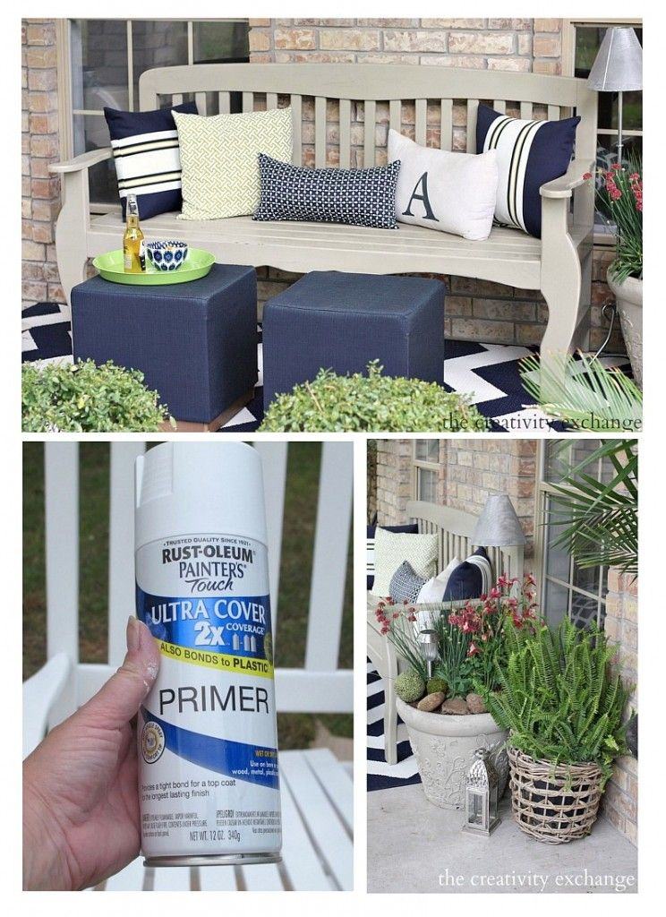 painting outdoor furniture and accessories rusted metal garden