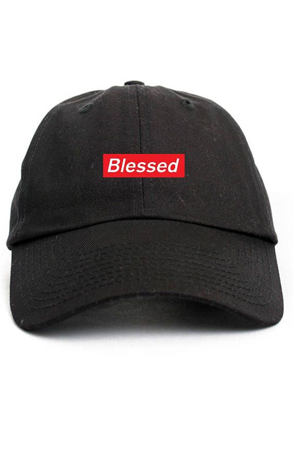 Blessed Supreme Box Logo Dad Hat Adjustable Baseball Cap New - Black ... 0d754778d0d6