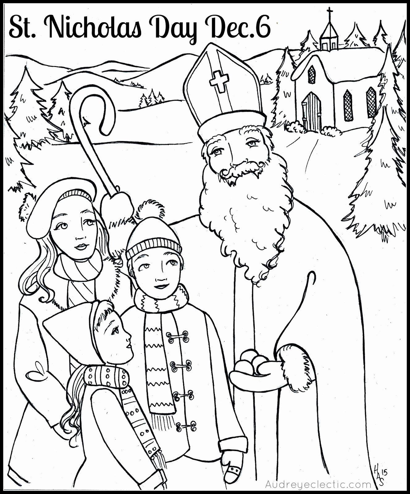 Saint Nicholas Coloring Page Inspirational Free Printable St Nicholas Day Sleightholm Folk Art