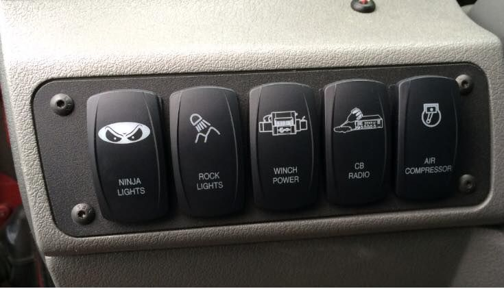 The Steel Armadillo Llc Jeep Commander Xk 2006 2010 Steel Armadillo Dash Switch Plate Jeep Commander Jeep Switch Plates