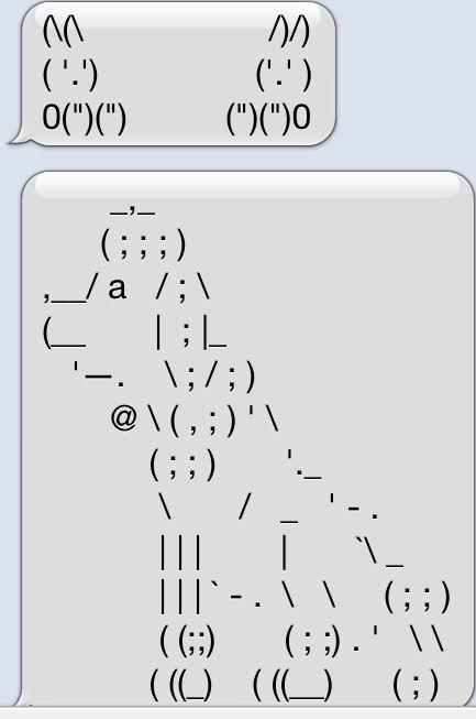 Art cute keyboard Text Art